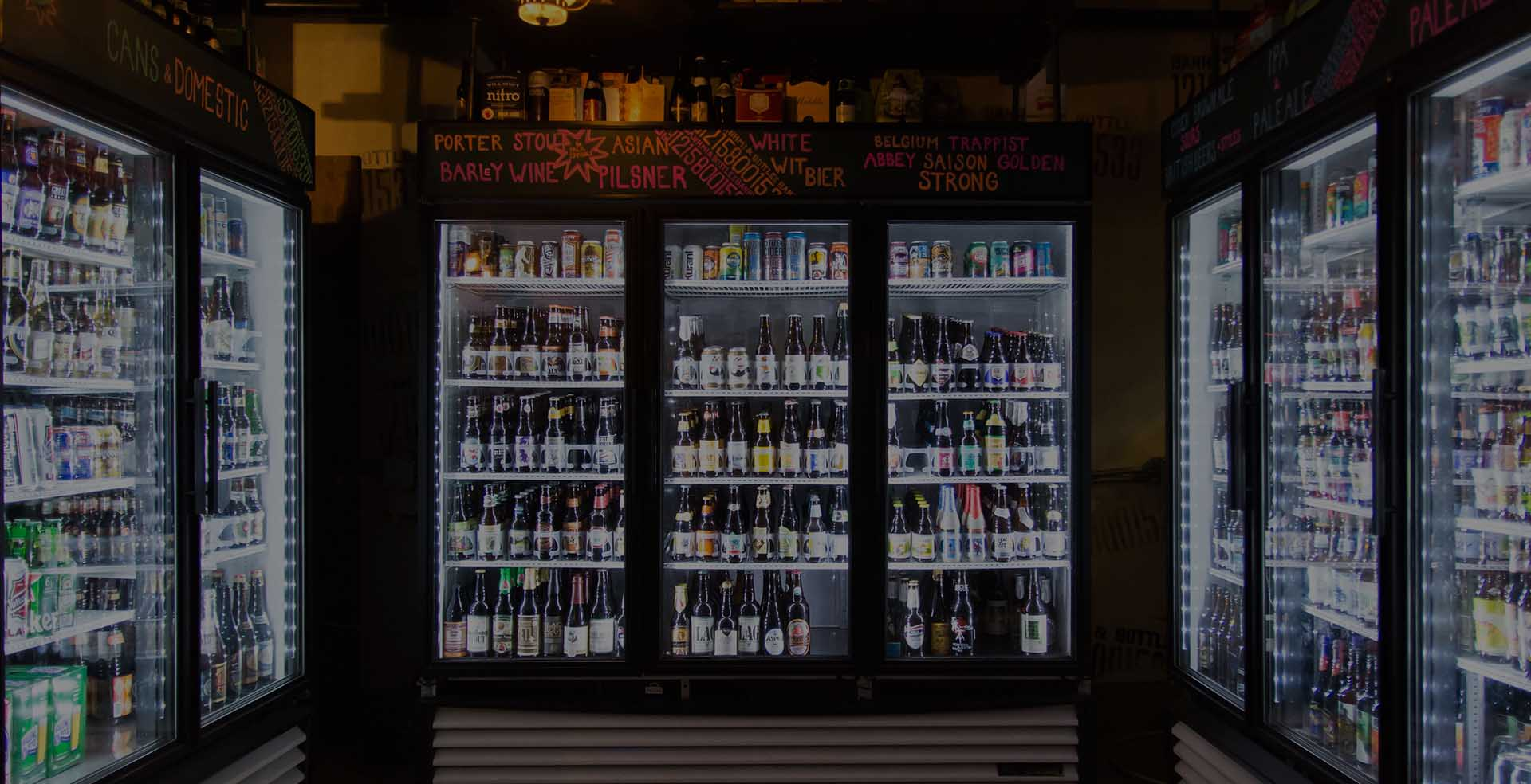 Over 200 craft beer bottles
